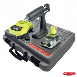 photo Hybride Glue gun 18V battery and charger Ryobi