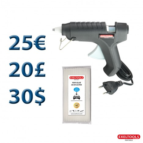photo Promo Pistolet à colle électrique 220V et colle offerte
