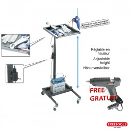 photo Promo Exeltools mobile glue set cart and electric glue gun 12V for free