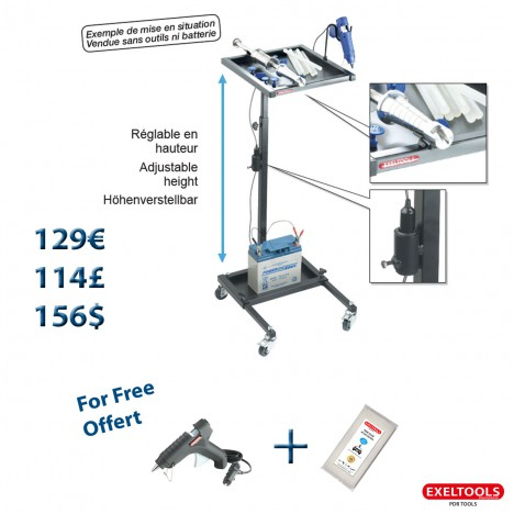photo Promo Exeltools mobile glue set cart