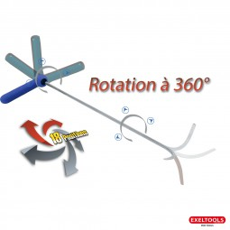 X102 Hook 18 positions - Rotate 360� - L�nge: 610 mm - � 8 mm