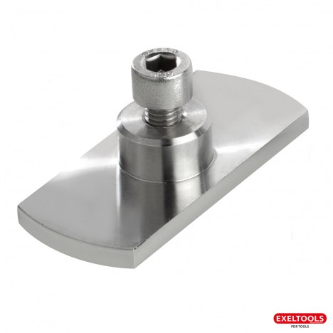Stainless Steel Suction Cup for Cold Glue 70 x 30 mm